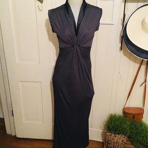 Zara Collection Dress - M gray ,poly blend ,maxi